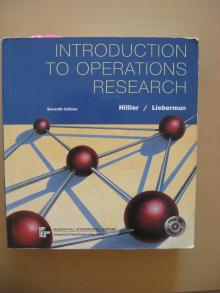 Introduction to Operations Research - Hillier/Lieberman