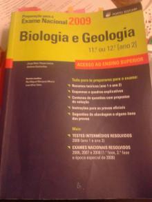 Preparação para o Exame Nacional 2009, Biologia e Geologia (11º ou 12º ano) - Jorge Reis, Paula Lemos