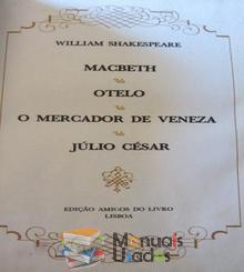 Macbeth;Otelo;O Mercador de Veneza;Júlio César - William Shak