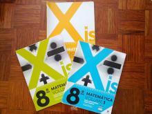 Xis 8 - Matemática 8º Ano (Volume 1+Volume 2+Caderno de actividades) - Paula Pereira, Pedro Pime...