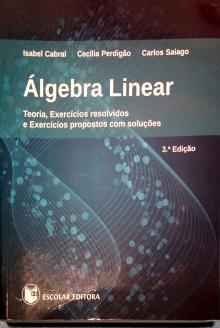 Álgebra Linear: Teoria, Exercícios resolvidos - Isabel Cabral, Cecília P...