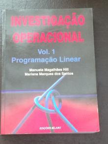 Investigação Operacional - Manuela Magalhães Hill, ...