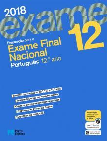 Exame final nacional português - 2018 - Porto Editora