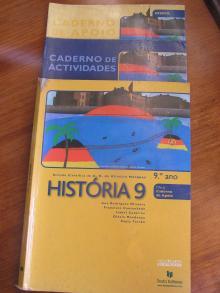 História 9 + Caderno de Apoio + Caderno de Actividades 9º Ano