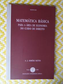 Matemática básica para a área de Economia do Curso de Direito