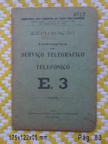 Instruções para o Serviço Telegráfico Telefónico CP. Lisboa 1928 CP