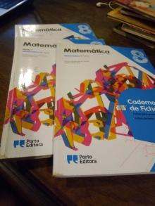 Matemática - 8.º Ano Porto Editora Manual + caderno de fichas
