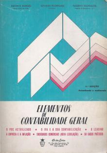 Elementos de Contabilidade Geral - Antonio Borges – Azeved...