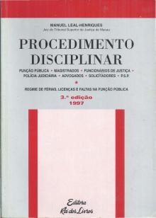 Procedimento Disciplinar - Manuel Leal-Henriques
