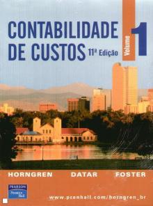 Contabilidade de Custos Vol 1 e 2 - Charles Horngre