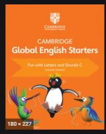 CAMBRIDGE GLOBAL ENGLISH STARTERS FUN WITH LETTERS AND SOUNDS C USADO