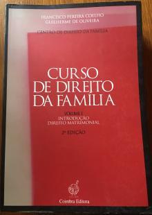 Curso de Direito da Família Francisco Pereira Coelho 2ª edição - Francisco Pereira Coelho