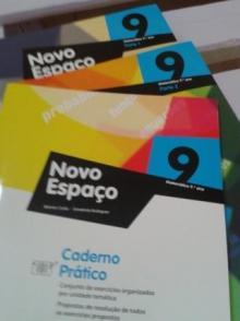 Novo espaço 9º (Parte 1, parte 2 e caderno prático) - Belmiro Costa...