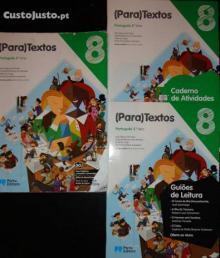 (Para)Textos - Português - 8.º Ano (Manual+Caderno de Actividades+Guião de Leitura) - Ana Miguel de Paiva, Gabr...
