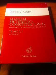 Manual de Direito Constitucional Tomo I,1