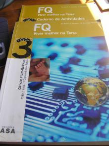 FQ Viver melhor na Terra 3º Ciclo + Livro de Atividades - Ciências Físico Químicas 7º, 8º, 9º Anos 3º Ciclo